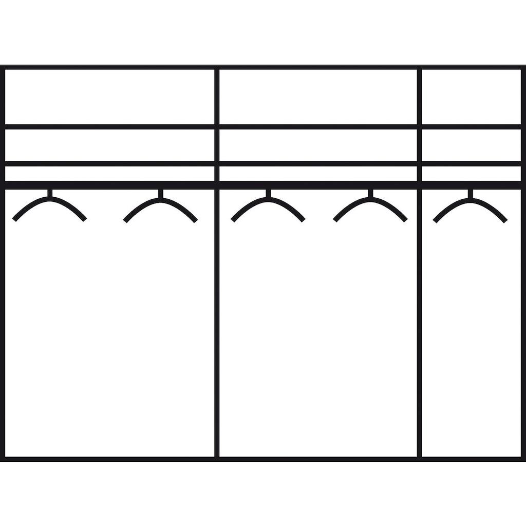 rauch Schwebetürenschrank »Quadra«, mit Glaselementen