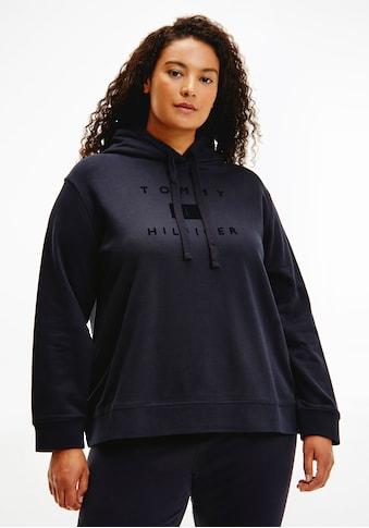 Tommy Hilfiger Curve Kapuzensweatshirt »CRV REGULAR FLOCK HOODIE«, mit hochwertigem... kaufen