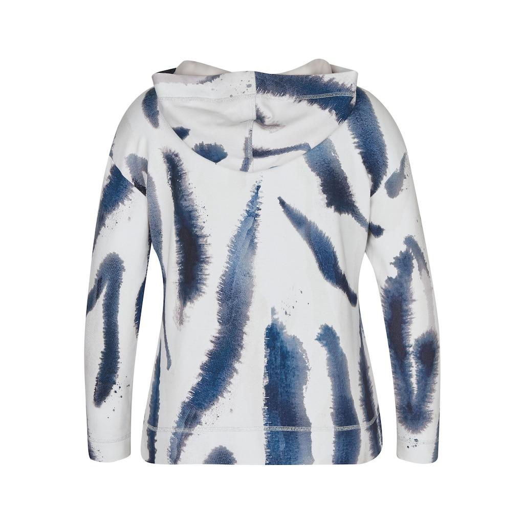 LeComte Shirt mit abstraktem Muster und Kapuze