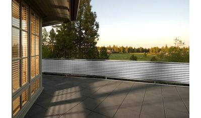 FLORACORD Balkonsichtschutz BxH: 500x90 cm, grau/weiß kaufen
