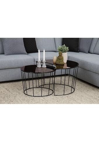 andas Couchtisch »Susan«, mit Tischplatte aus bronzefarbigem Spiegelglas und Metall Gestell kaufen