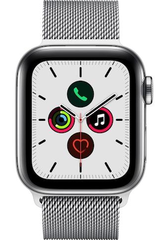 Apple Series 5 GPS + Cellular, Edelstahlgehäuse Milanaise Armband 40mm Watch (Watch OS 6) kaufen