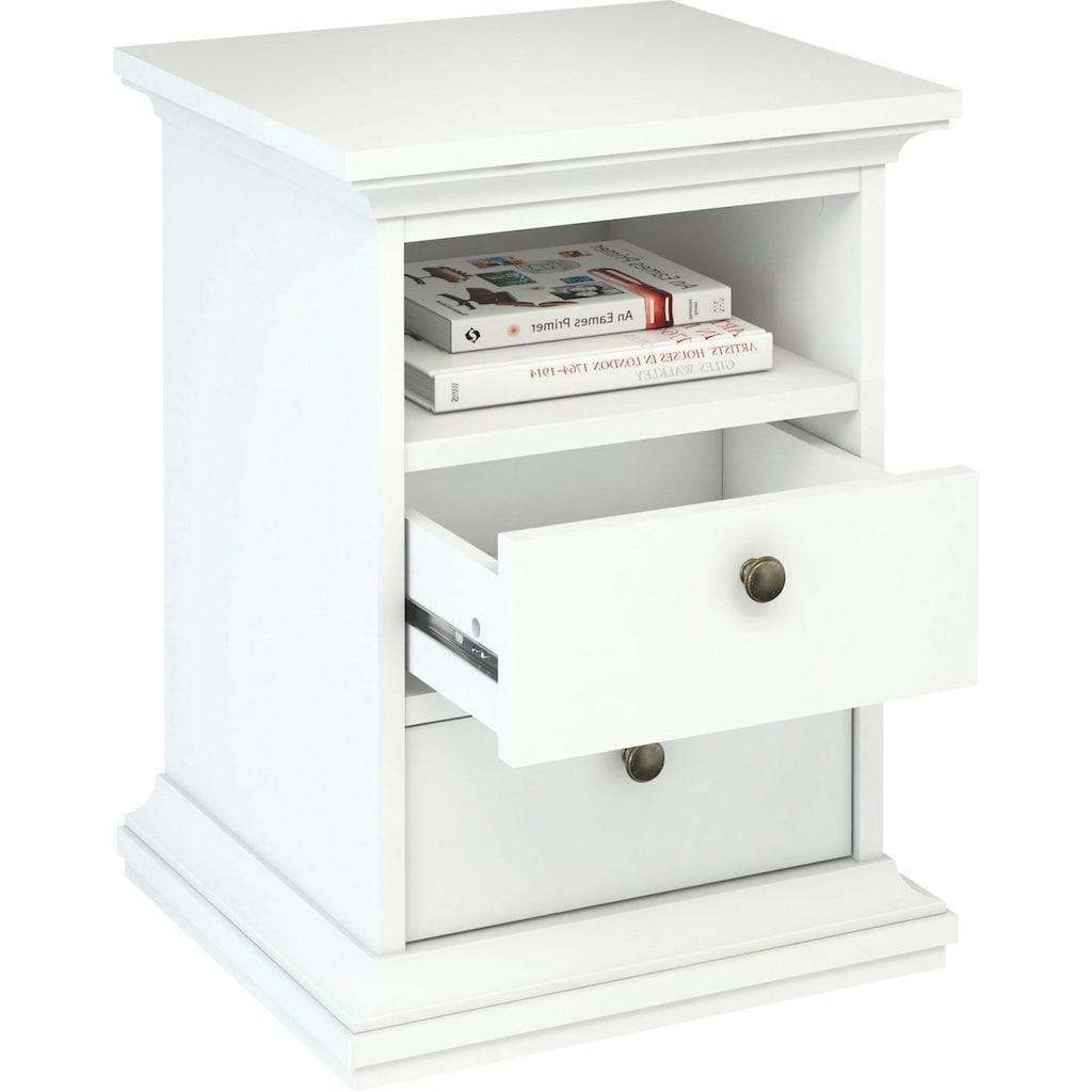 Home affaire Nachttisch »Paris«, im romatischen Landhaus-Stil mit 2 Schubladen und einem offenen Fach, Breite 43,6 cm