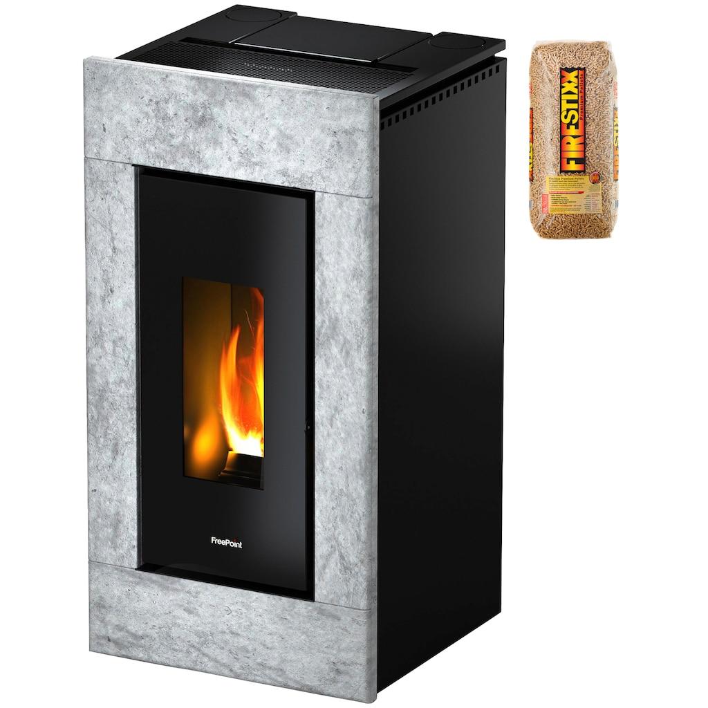 FREEPOINT Pelletofen »Vega airtight«, Naturstein, 11 kW, Dauerbrand, inkl. 15 kg Holzpellets