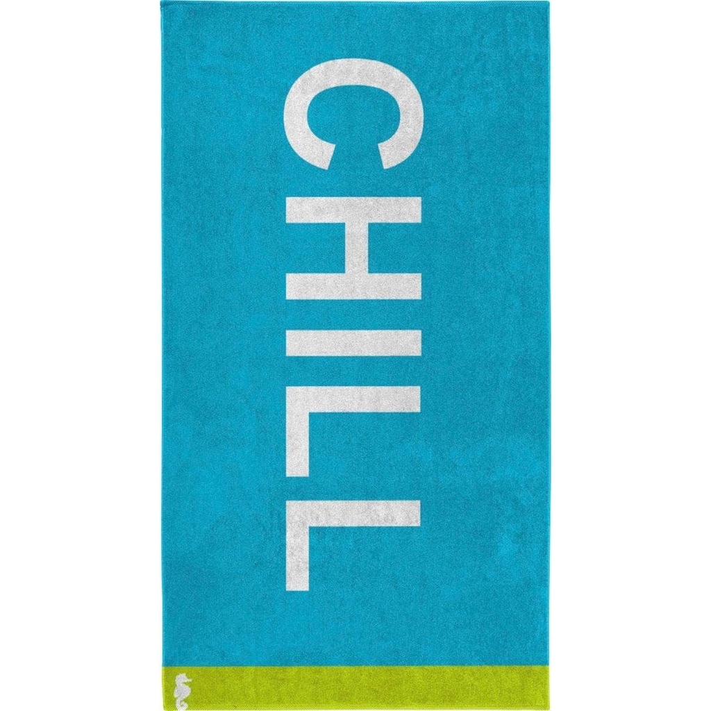 Seahorse Strandtuch »Chill«, (1 St.), mit coolem Text