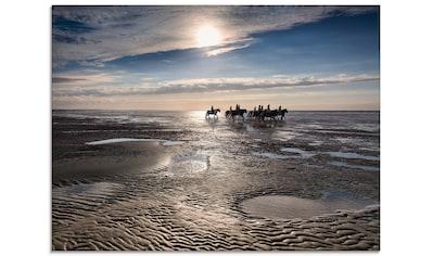 Artland Glasbild »Freiheit am Meer«, Strand, (1 St.) kaufen