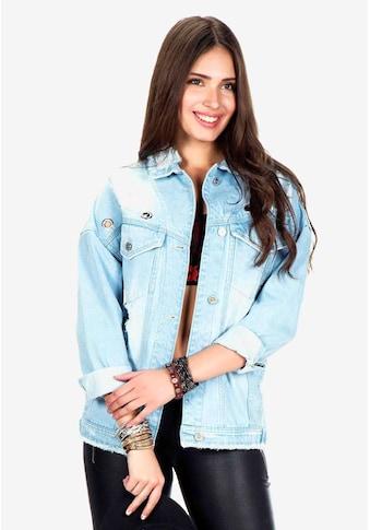 Cipo & Baxx Jeansjacke, mit stylischen Fransen kaufen