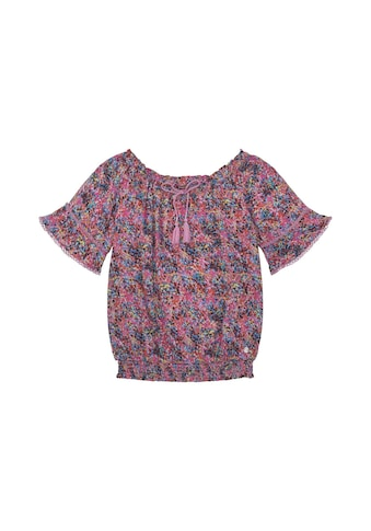 TOM TAILOR Shirtbluse »Gemusterte Off - Shoulder Bluse« kaufen