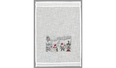 HOSSNER - ART OF HOME DECO Scheibengardine »Wichtel«, HxB: 90x40, weihnachtlicher Landhaus-Look kaufen