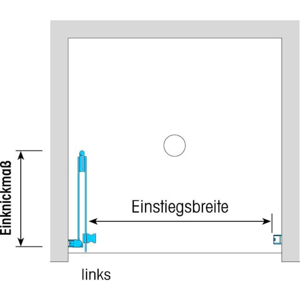 Dusbad Falttür »Vital 1 für Nische«, Anschlag links 100 cm
