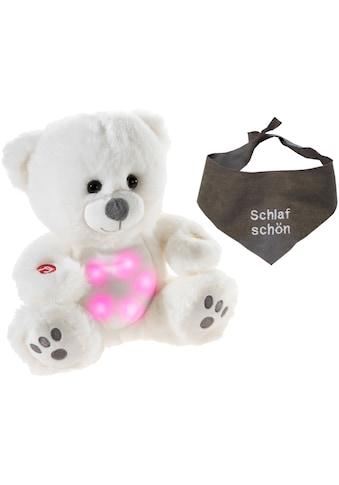 Heunec® Kuscheltier »Musiledi Bär, 20 cm mit grauem Halstuch«, mit Musik und Nachtlicht kaufen