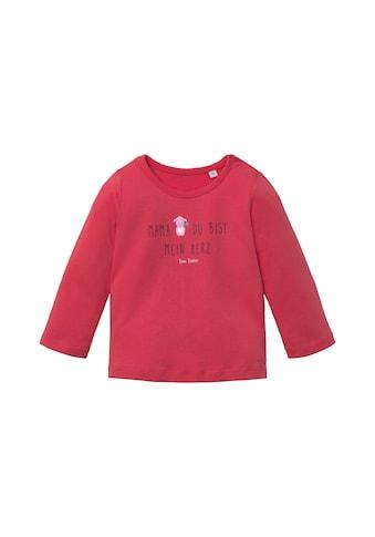 TOM TAILOR Langarmshirt »Print Langarmshirt« kaufen