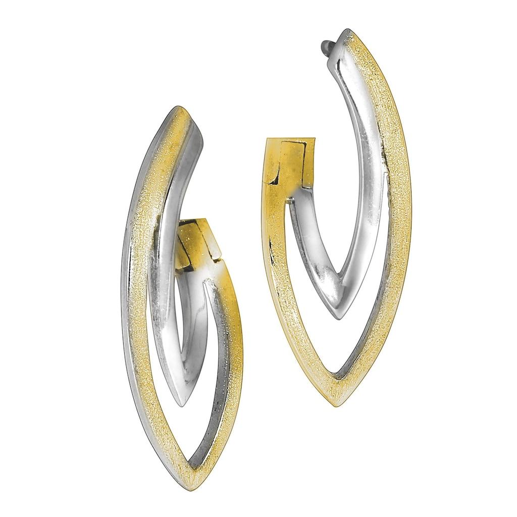 Vivance Klappcreolen »925/- Sterling Silber bicolor«, rhodiniert + bicolor