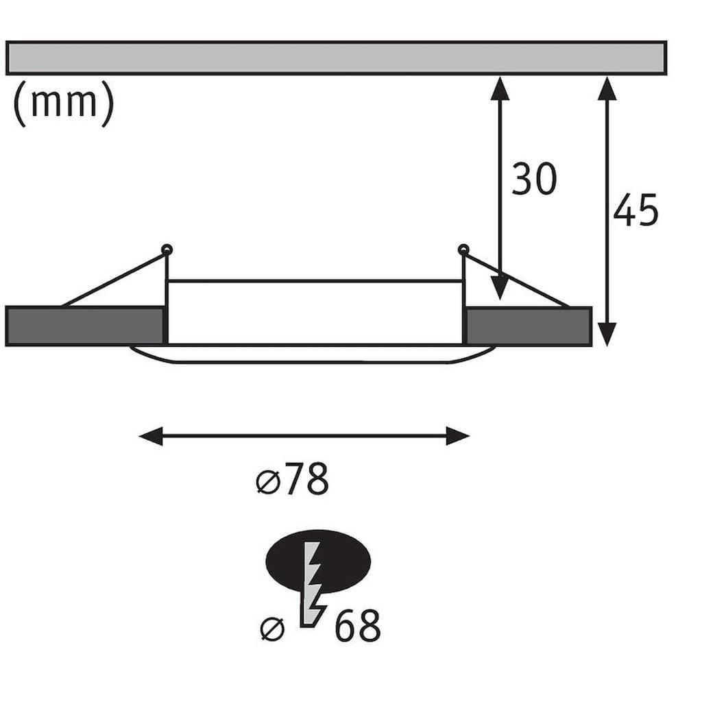 Paulmann LED Einbaustrahler »dimmbar IP44 rund Eisen Coin Slim 6,8W«, 3 St., Warmweiß