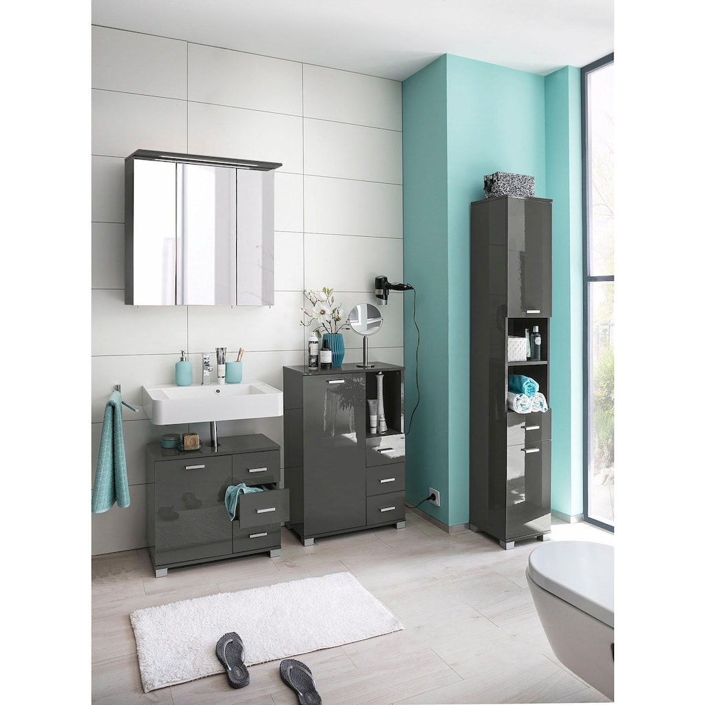 Places of Style Waschbeckenunterschrank »Rowan«, mit 3 Schubkästen