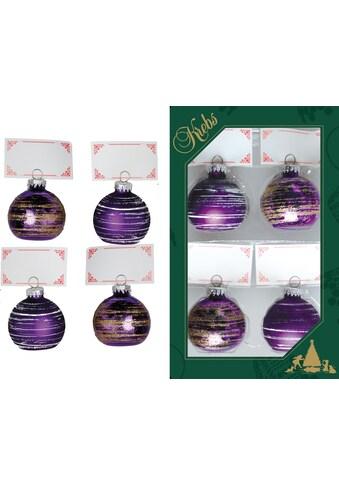 Krebs Glas Lauscha Tischkartenhalter »CBK21527«, in Form einer Weihnachtbaumkugel kaufen