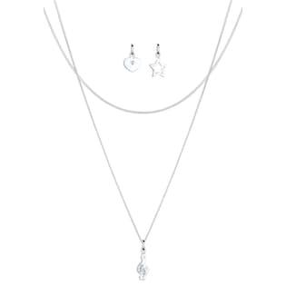 dd4be3f61230 Elli Ketten-Set »Set  Notenschlüssel Swarovski® Kristalle 925 Silber« (Set