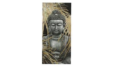 Bild Buddha mit Palmblätter kaufen