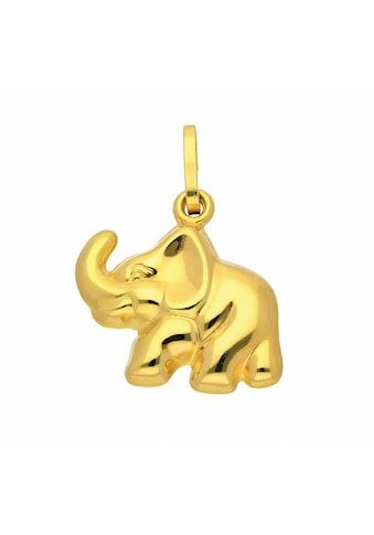 Adelia´s Anhänger Set »333 Gold Anhänger Elefant«, 333 Gold Goldschmuck für Damen kaufen