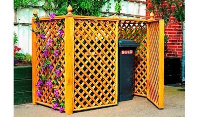 PROMADINO Mülltonnenbox , für 2x240 l aus Holz, B/T/H: 164/89/136 cm kaufen