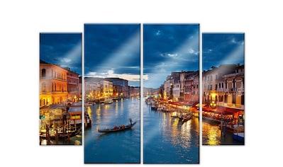 Wall-Art Mehrteilige Bilder »Canal Grande Venedig (4-teilig)«, (Set, 4 St.) kaufen