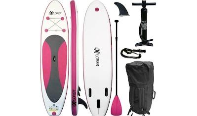 EXPLORER Inflatable SUP - Board »Explorer SUP 300 pink«, (Set, mit Paddel, Pumpe und Transportrucksack) kaufen