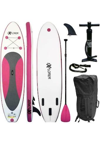 EXPLORER Inflatable SUP-Board »Explorer SUP 300 pink«, (Set, mit Paddel, Pumpe und... kaufen