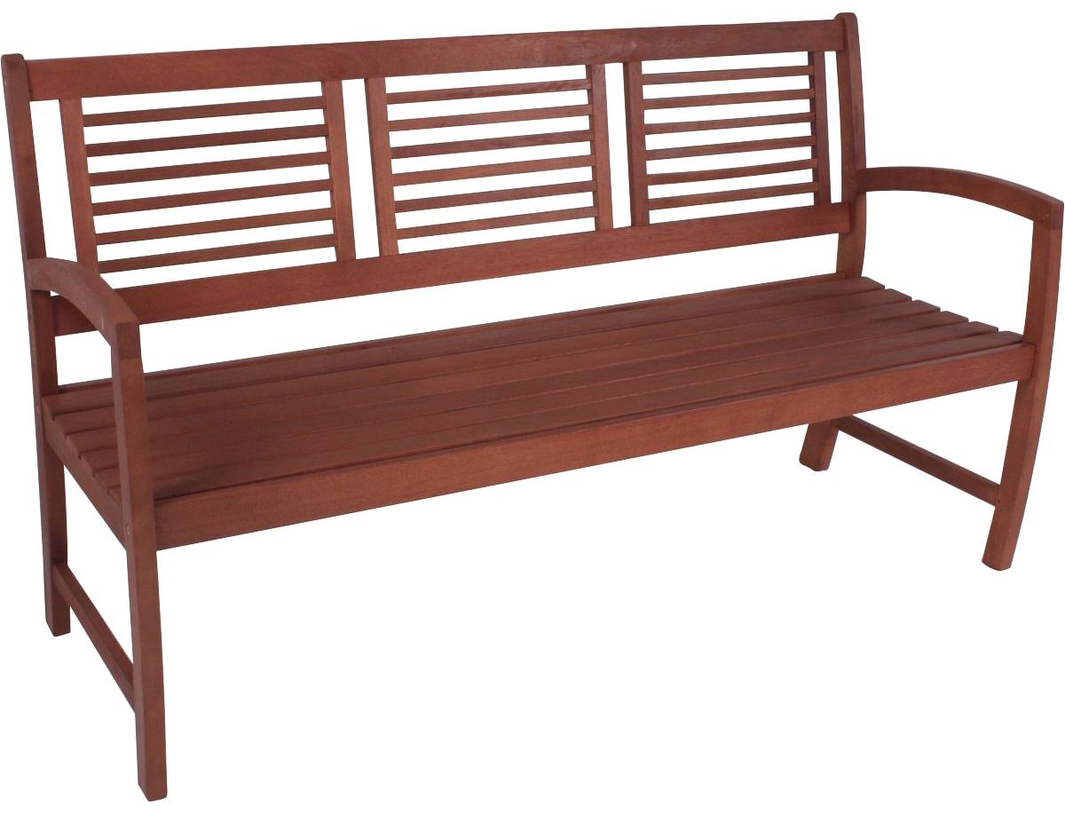 GARDEN PLEASURE Gartenbank MADISON Eukalyptus 156x90x59 cm braun