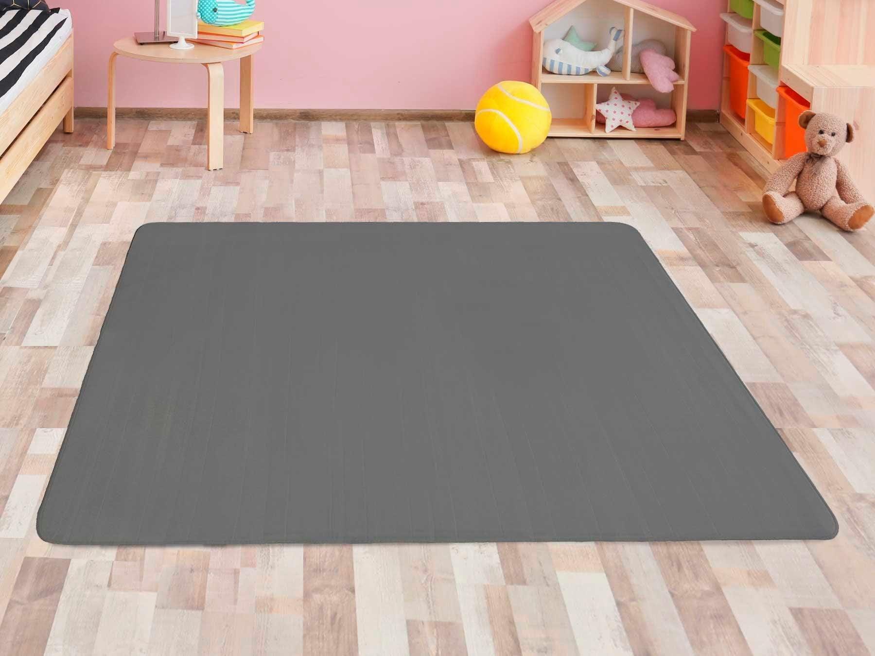 Primaflor-Ideen in Textil Kinderteppich SITZKREIS, rechteckig, 5 mm Höhe, Spielteppich, ideal im Kinderzimmer grau Kinder Spielteppiche Kinderteppiche Teppiche