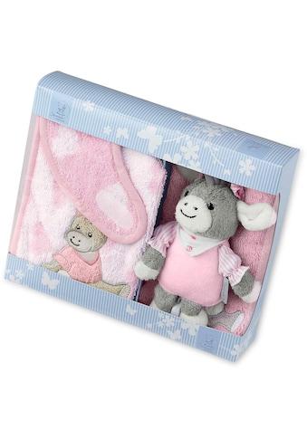 Sterntaler® Spieluhr »Emmi Girl«, mit Waschhandschuh und Lätzchen kaufen