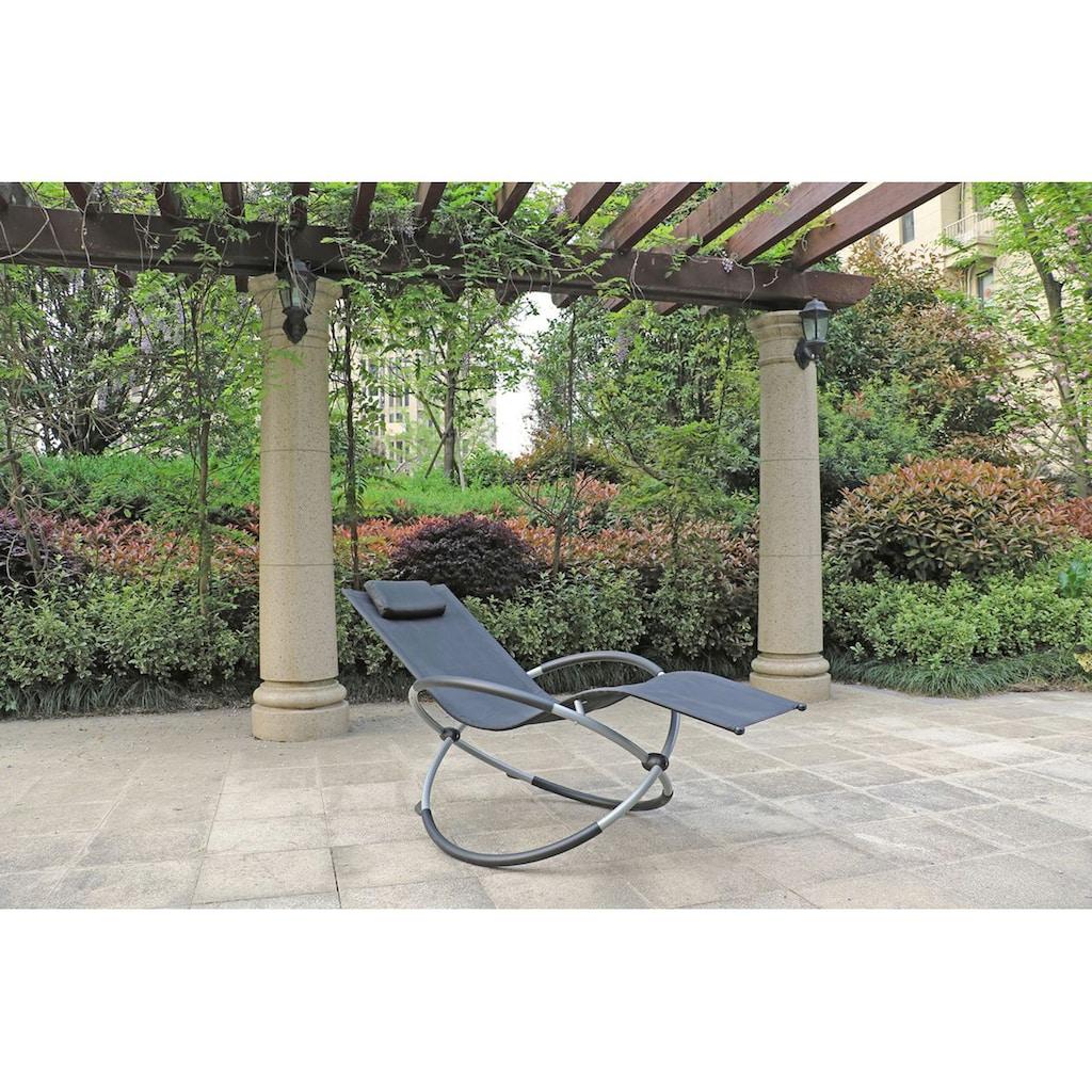 Garden Pleasure Gartenliege »MILOS«, mit Schaukelfunktion