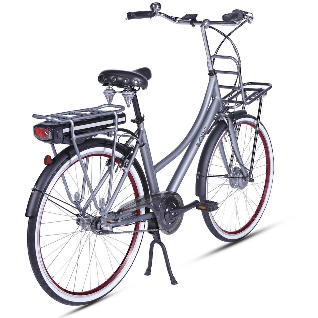 LLobe E-Bike »Rosendaal Lady 10,4 Ah«, Gepäckträger vorne