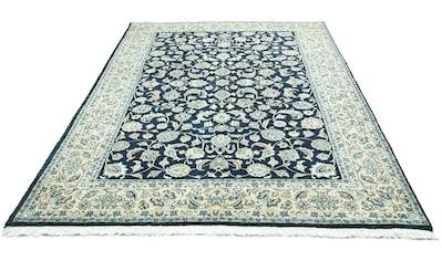 morgenland Wollteppich »Maschad Teppich handgeknüpft blau«, rechteckig, 12 mm Höhe kaufen