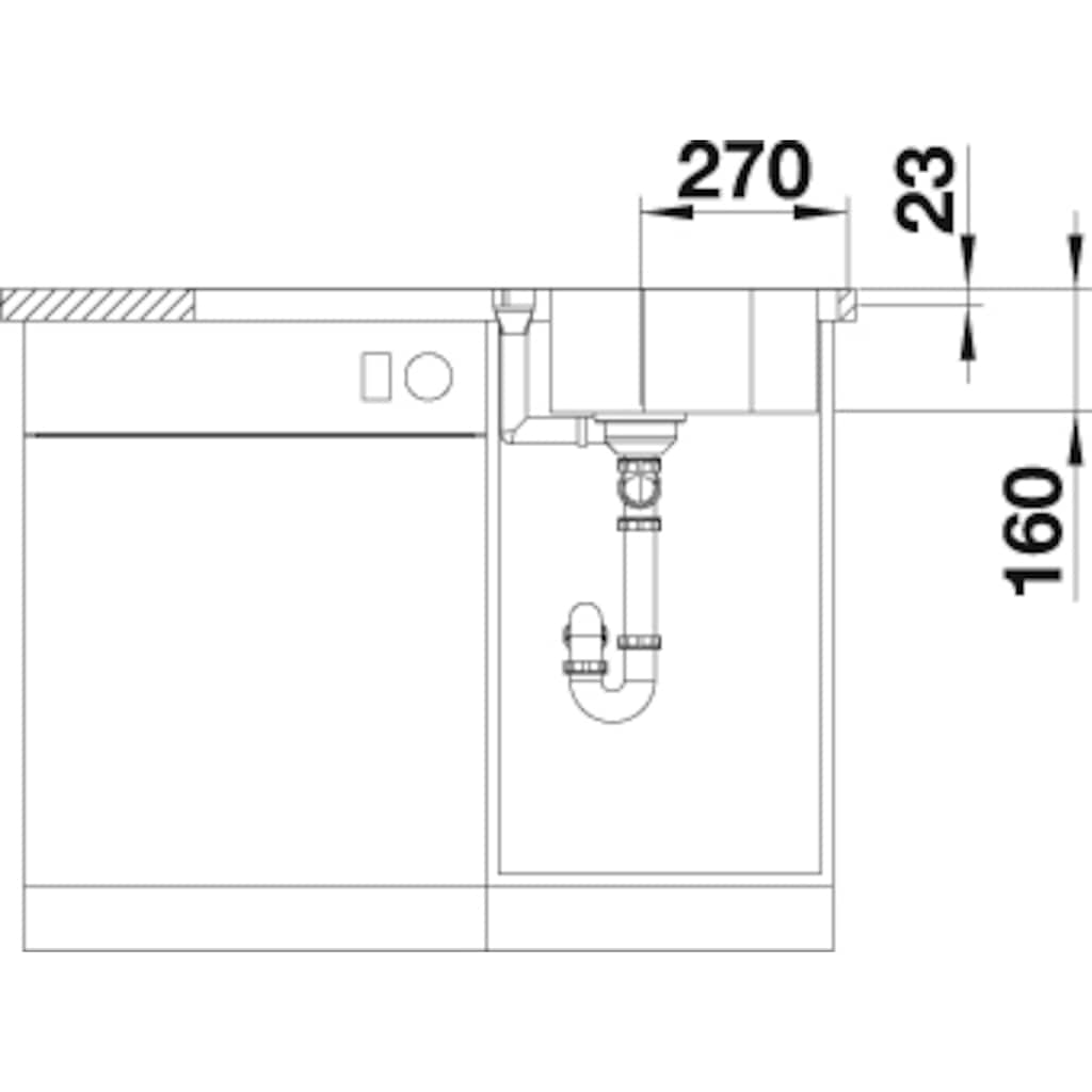 Blanco Küchenspüle »LANTOS 45 S-IF«