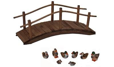 Alfred Kolbe Krippen-Zubehör »Holzbrücke und Entenset« kaufen
