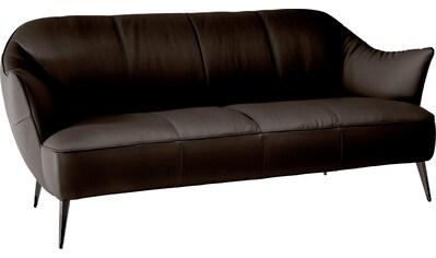 NATUZZI EDITIONS 2-Sitzer »Estasi«, in Leder oder Stoff mit modernen Metallfüßen kaufen