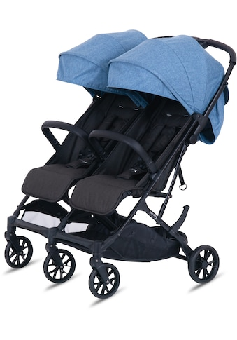 Knorrbaby Zwillingsbuggy »Twin-Easy Fold, Blau«, faltbar; Zwillingskinderwagen;... kaufen