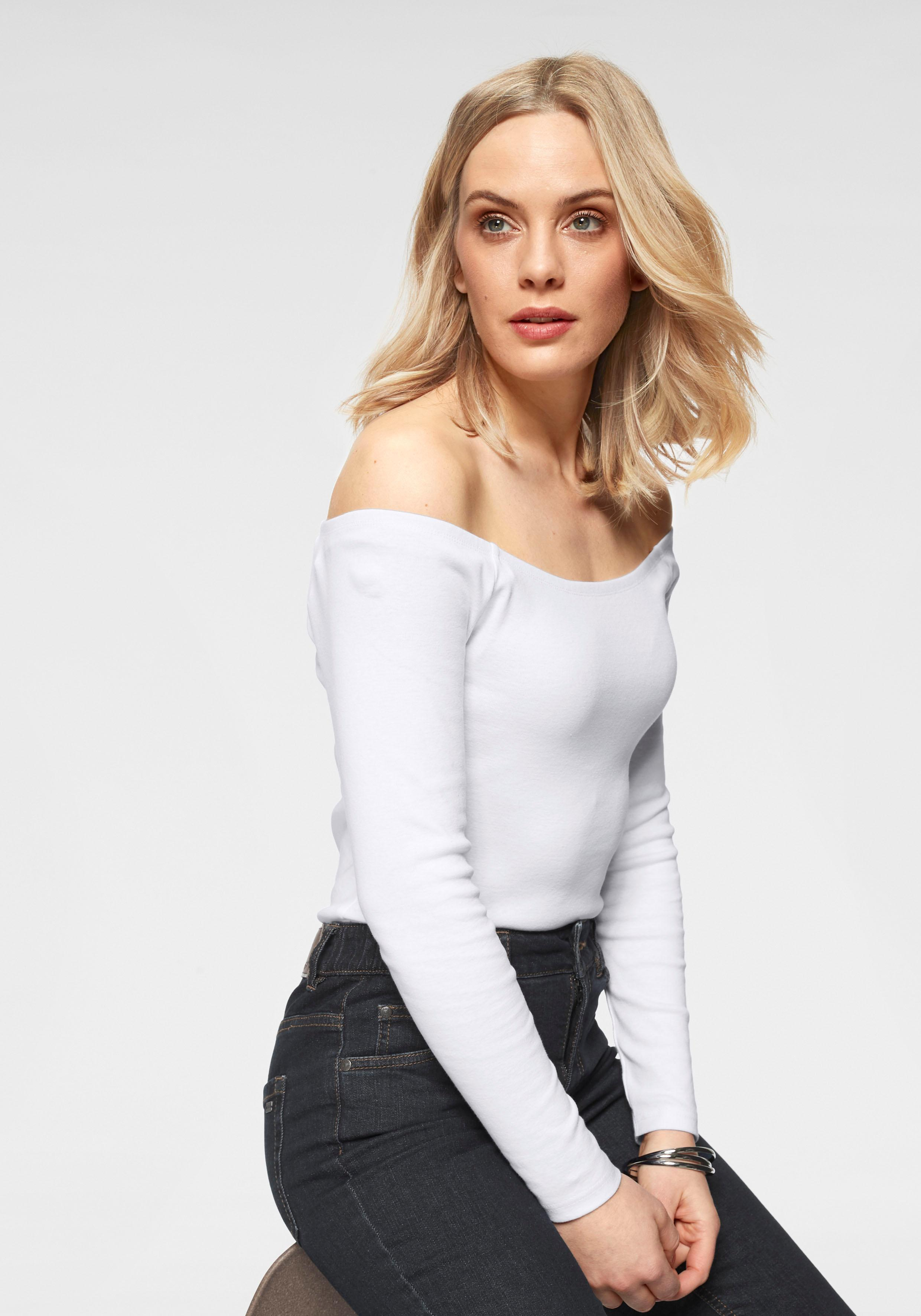 Arizona Carmenshirt Off-Shoulder | Bekleidung > Shirts > Carmenshirts & Wasserfallshirts | Arizona