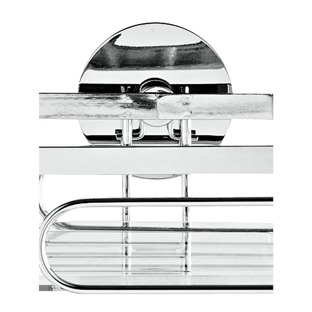 Wandablage mit transparentem herausnehmbarem Einlegeboden