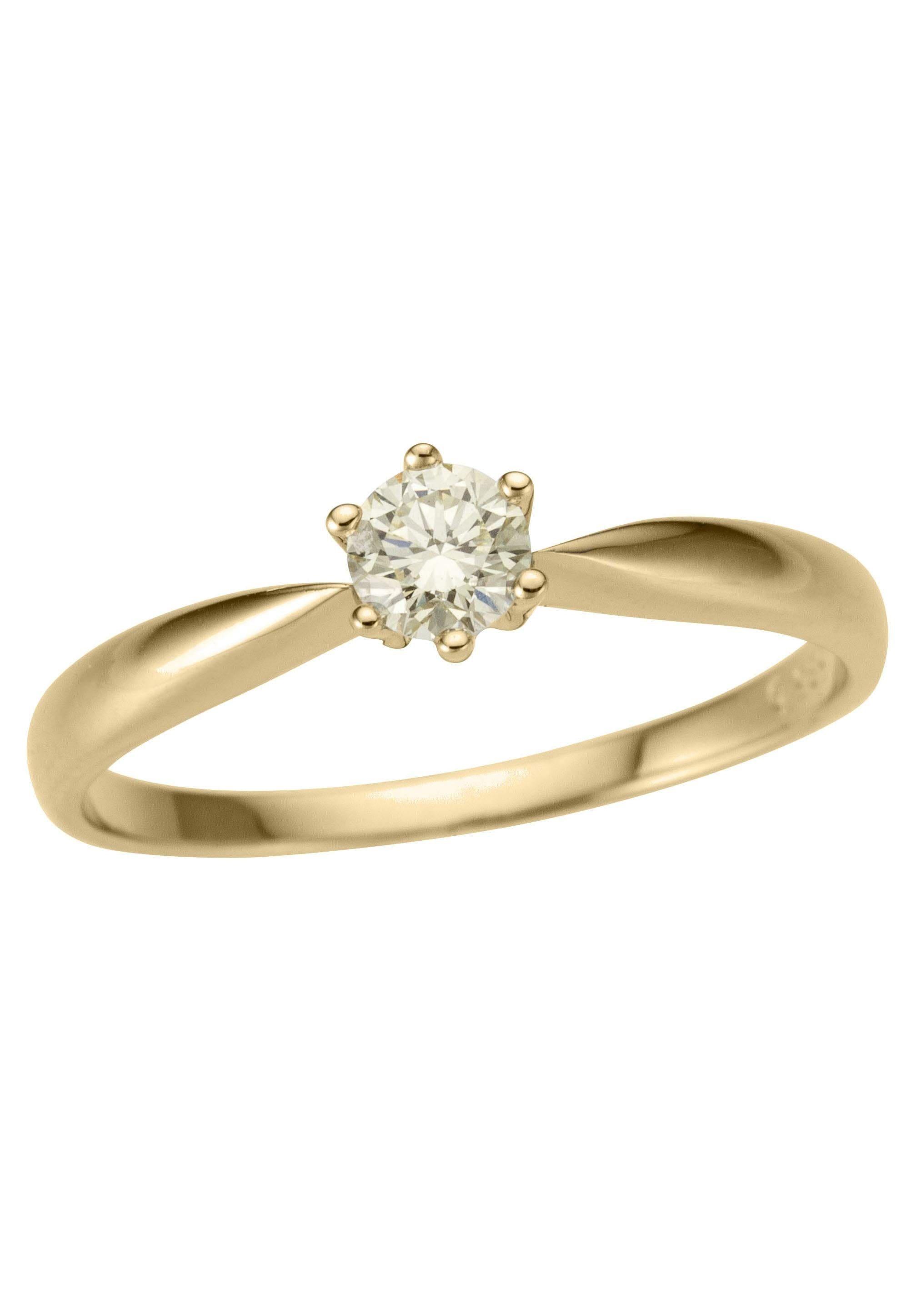 Firetti Fingerring Verlobungsring Vorsteckring Solitär Gelbgold | Schmuck > Ringe > Fingerringe | Firetti