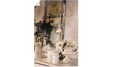 Artland Wandbild »Shabby Charme Stillleben mit Teelight«, Vasen & Töpfe, (1 St.), in vielen Größen & Produktarten - Alubild / Outdoorbild für den Außenbereich, Leinwandbild, Poster, Wandaufkleber / Wandtattoo auch für Badezimmer geeignet kaufen