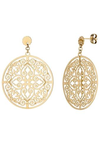 JOBO Paar Ohrhänger, rund Edelstahl goldfarben kaufen