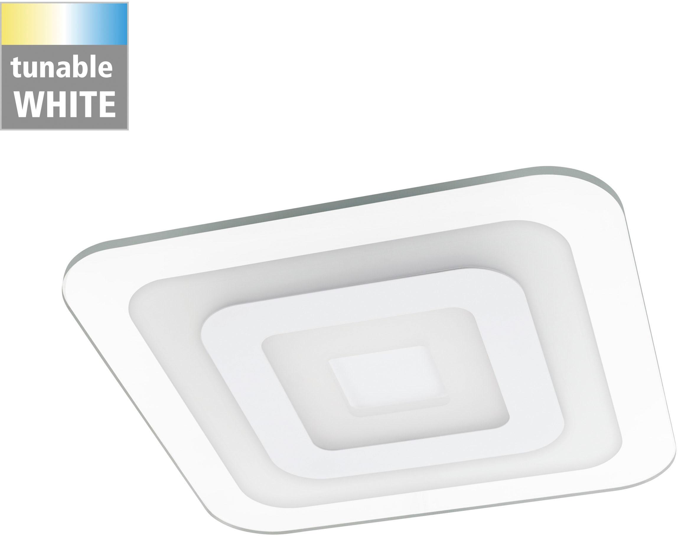 EGLO LED Deckenleuchte REDUCTA 1, LED-Board, Extra-Warmweiß-Kaltweiß-Neutralweiß-Tageslichtweiß-Warmweiß, Memory function, CCT, 3-step dimming