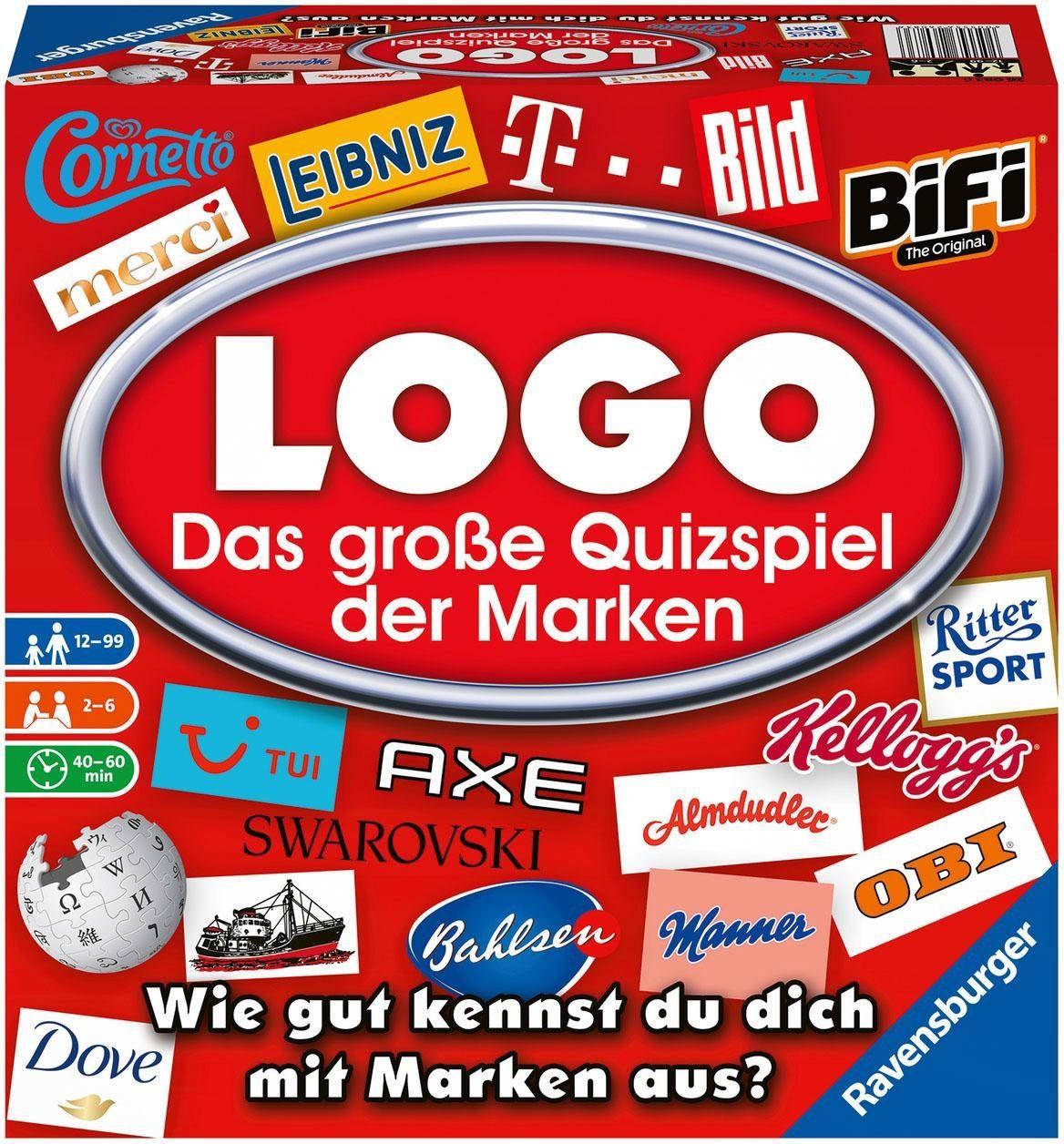 """Ravensburger Spiel """"Logospiel der Marken"""" Technik & Freizeit/Spielzeug/Gesellschaftsspiele/Quizspiele"""