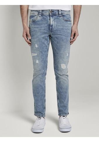 TOM TAILOR Slim-fit-Jeans »Josh Regular Slim Jeans mit versetzter Münztasche« kaufen