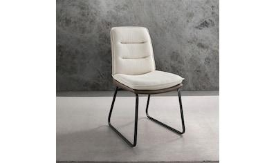 Places of Style Esszimmerstuhl »Ontario«, 2er-Set in modernem Design. Zwei Bezugsqualitäten, Sitz und Rücken gepolstert kaufen