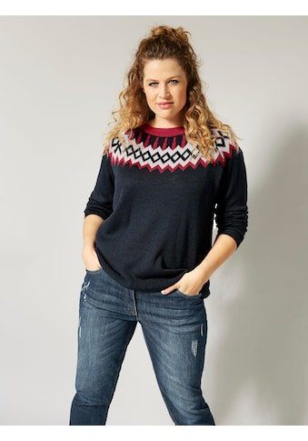 Janet & Joyce by Happy Size Pullover mit Jacquardmuster kaufen