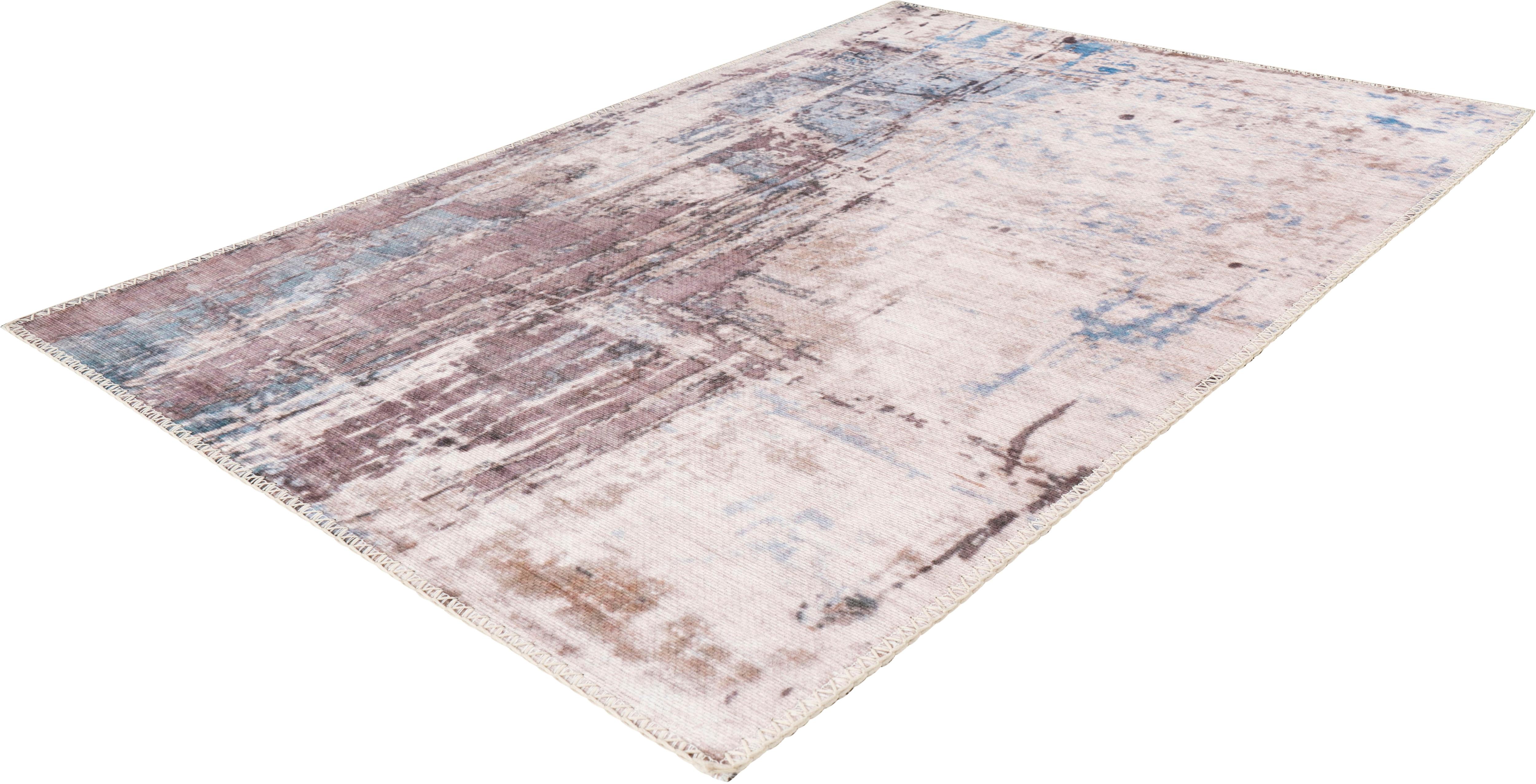Arte Espina Teppich Peron 100, rechteckig, 5 mm Höhe grau Esszimmerteppiche Teppiche nach Räumen