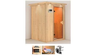 KARIBU Sauna »Fehmke«, 150x150x202 cm, 3,6 kW Plug & Play Ofen mit ext. Steuerung kaufen