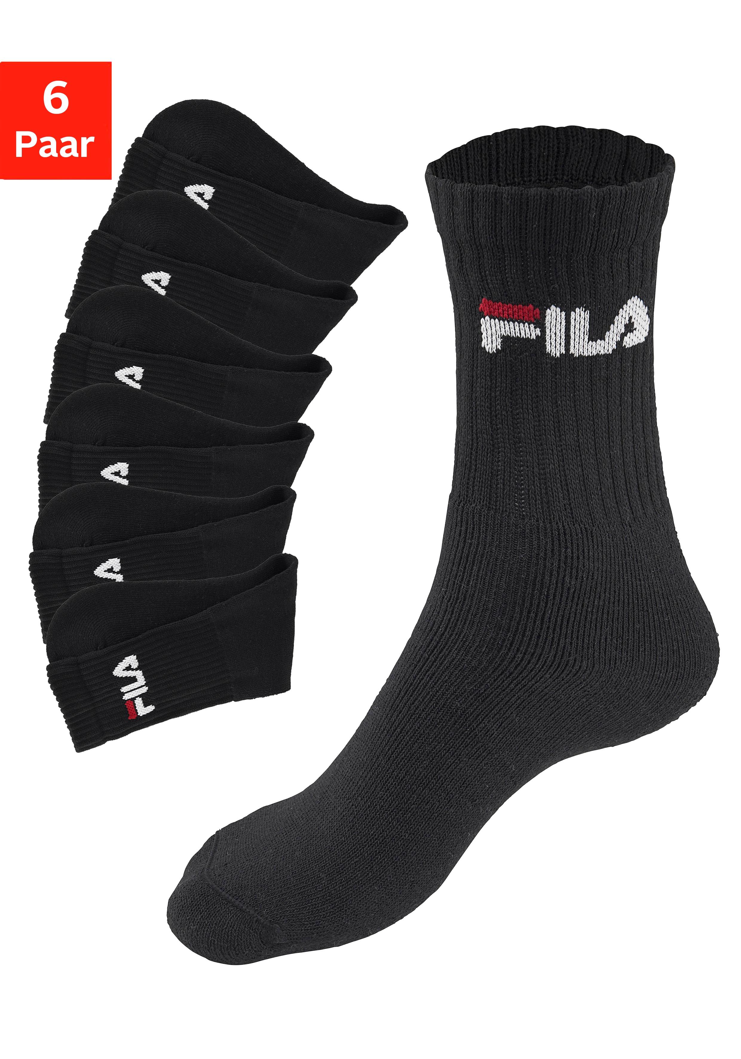 Fila Tennissocken (6 Paar) Damenmode/Wäsche & Bademode/Damenwäsche/Socken/Sportsocken/Tennissocken